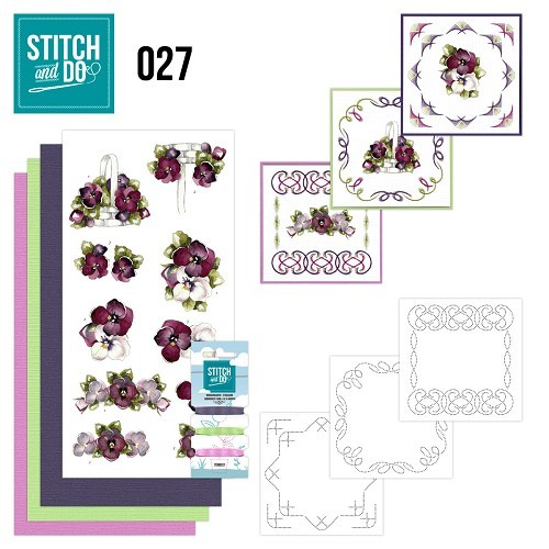 Stitch and Do 27 Purper flowers