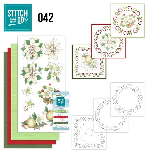 Stitch and do 42White Christmas Flowers