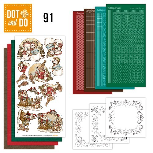 Dot and Do  setje 91 Holly Jolly mix