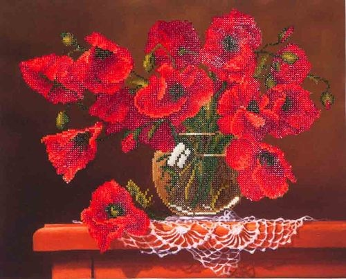Diamond Dotz Red Poppies