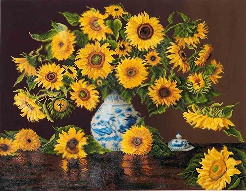 Diamond dotz Sunflowers in China Vase
