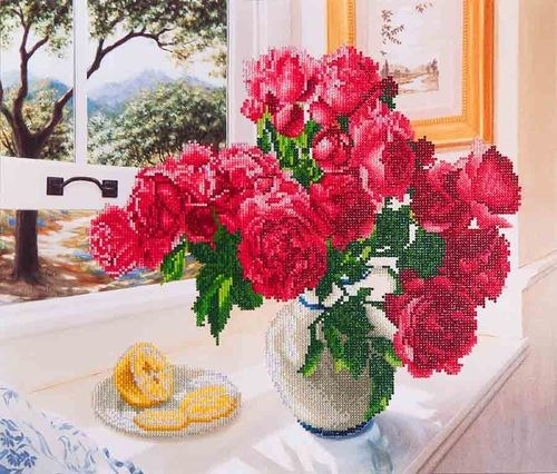 Diamond Dotz Roses by the window