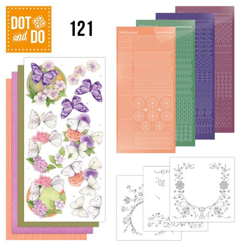 Dot and Do `121 Jeanine`s vlinders en bloemen