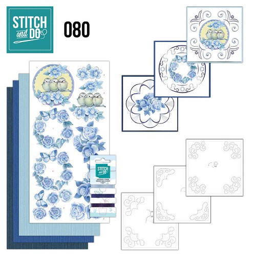 Stitch and Do Vintage bloemen 80