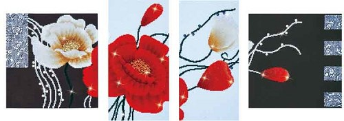 Diamond Dotz Art Deco Poppies