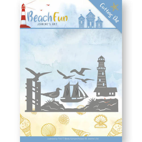Dies - Jeanine's Art - Beach Fun - Lighthouse Border
