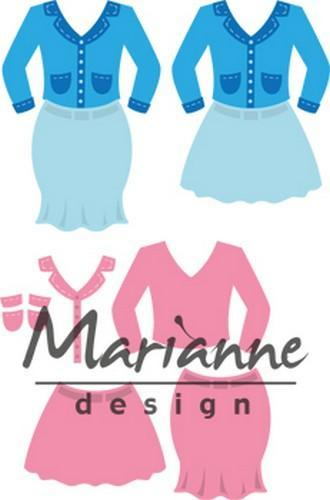 Marianne D Collectable Lady's suit COL1453 70x73 mm (06-18)