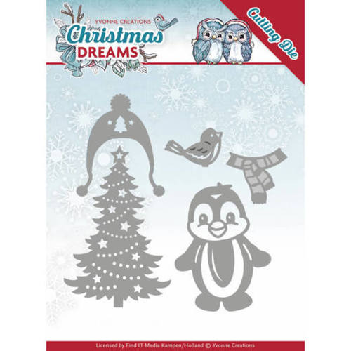 Dies - Yvonne Creations - Christmas Dreams - Christmas Penguin
