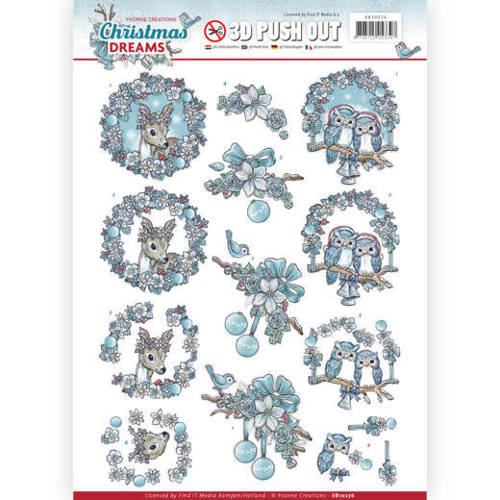3D Pushout - Yvonne Creations - Christmas Dreams - Christmas Animals