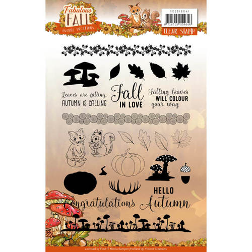 Clear Stamps - Yvonne Creations - Fabulous Fall -
