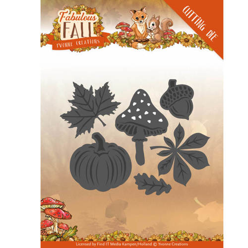 Dies - Yvonne Creations - Fabulous Fall - Autumn Leaves