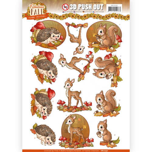 3D Push Out - Yvonne Creations - Fabulous Fall - Fabulous Animals