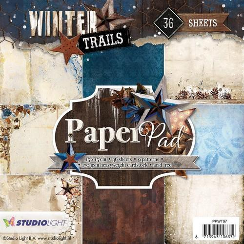 Studio Light Paper pad 36 vel Winter Trails nr 97 PPWT97 (08-18)