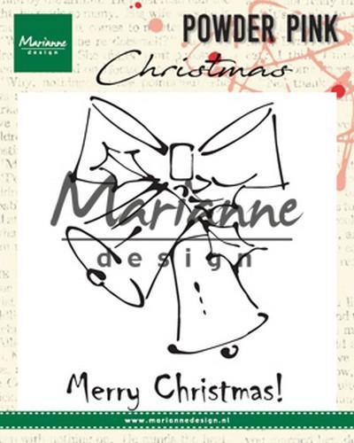 Marianne D Clear stamp Merry Christmas bells PP2810 10x12,5cm (08-18)