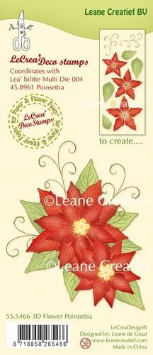 LeCrea - Clear stamp 3D Flower Poinsettia 55.5466 (08-18)