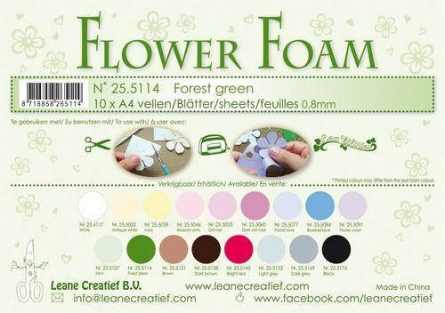LeCrea - 10 Flower Foam sheets A4 0,8mm forest groen 25.5114 (08-18)