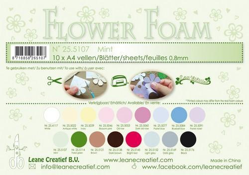 LeCrea - 10 Flower Foam sheets A4 0,8mm mint 25.5107 (08-18)