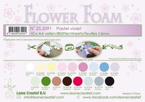LeCrea - 10 Flower Foam sheets A4 0,8mm pastel violet 25.5091 (08-18)