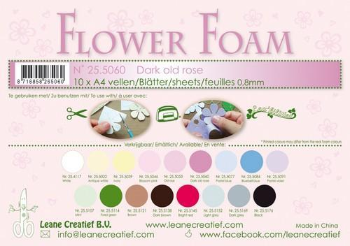 LeCrea - 10 Flower Foam sheets A4 0,8mm donker oudroze 25.5060 (08-18)