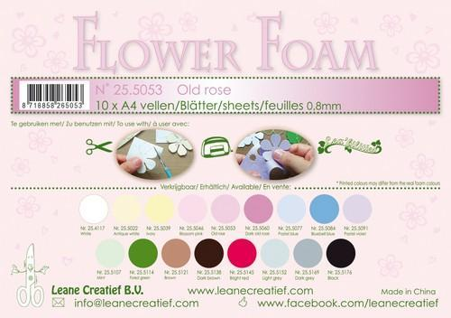 LeCrea - 10 Flower Foam sheets A4 0,8mm oudroze 25.5053 (08-18)