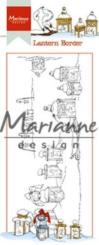 Marianne D Clear Stamp Hetty's lantaarn border HT1640 7,5 x 18,5 cm (09-18)