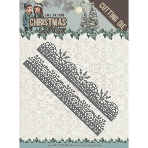 Dies - Amy Design - Christmas Wishes - Snowflake Borders