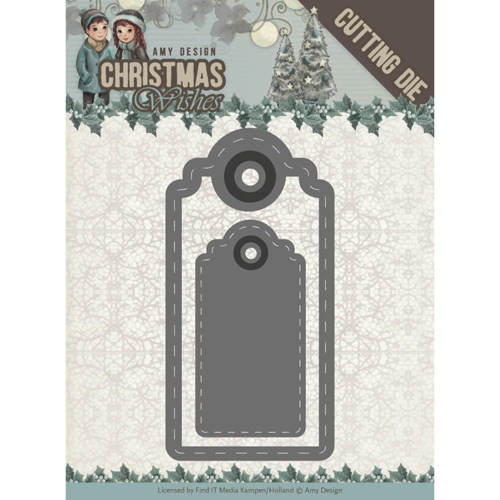 Dies - Amy Design - Christmas Wishes - Wishing Labels
