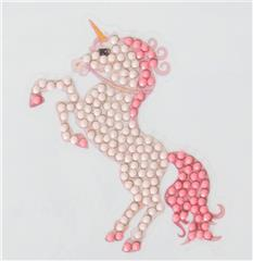 Crystal Art stickers Unicorn Rose