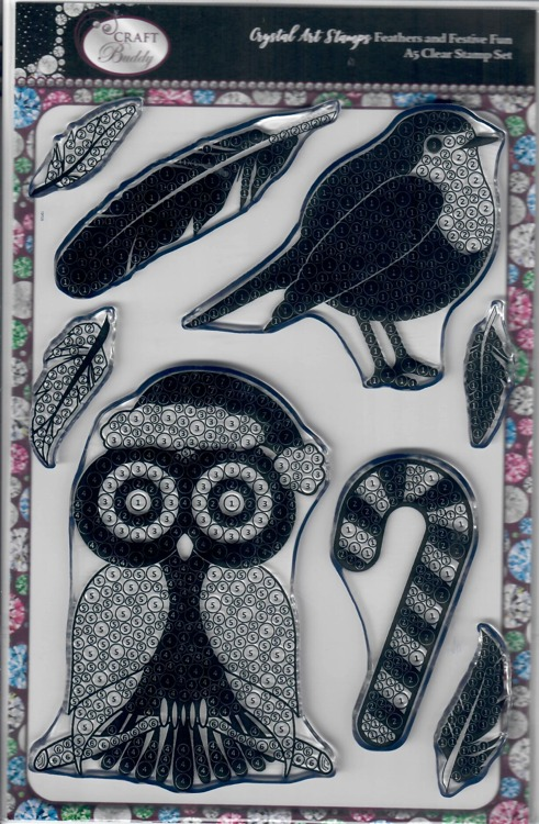 Crystal Art Stamps Owl en Birth Chrismas