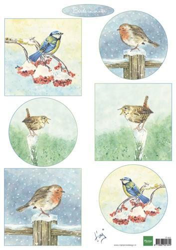 Marianne D Decoupage Tiny's birds in winter IT605A4 (10-18)