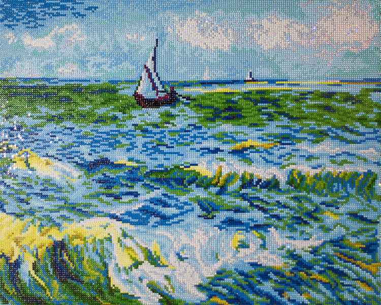 Diamond Dotz Seacape at Saint Maries (van Gogh