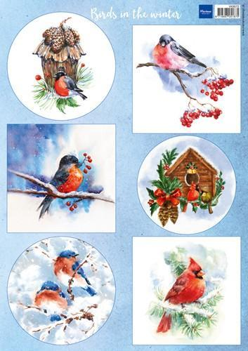 Marianne D Decoupage Birds in the snow VK9572 A4 (11-18)