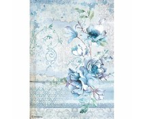 Rice paper Blue Land flower