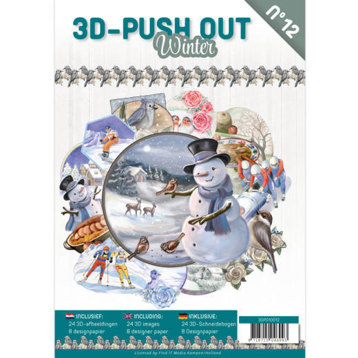 3D Push Out Book Winter