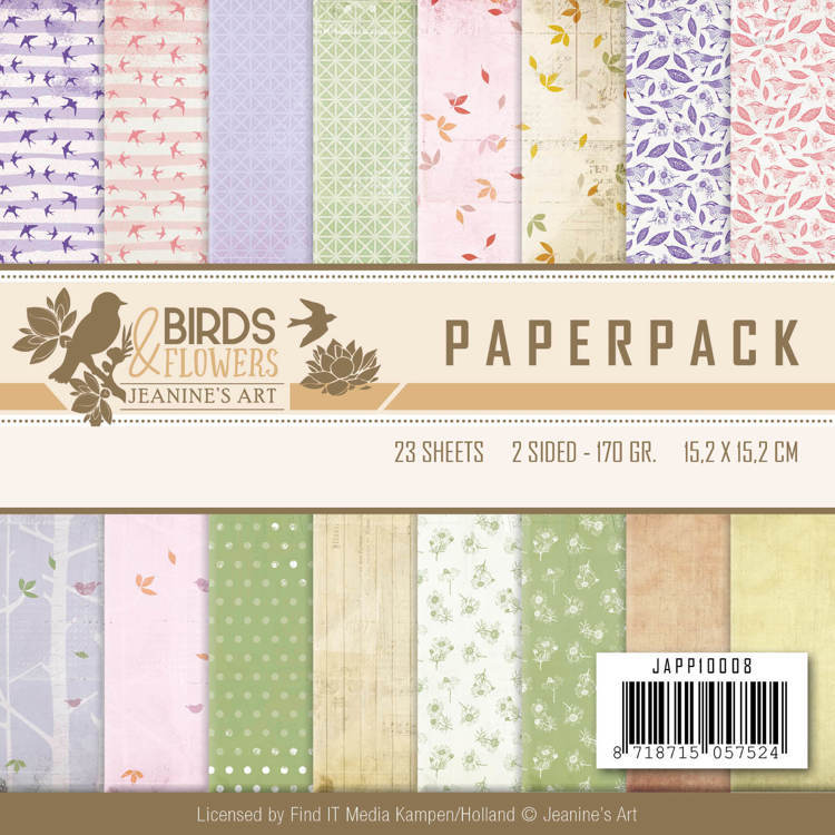 Paperpack - Jeanine's Art - Birds and Flowers