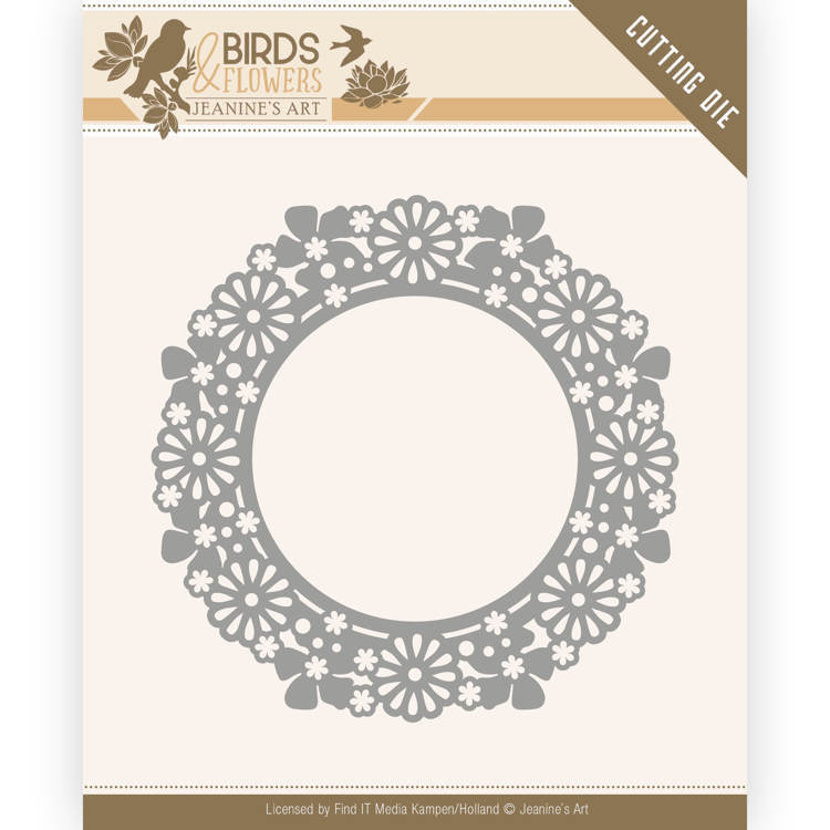 Dies - Jeanine's Art - Birds and Flowers - Flower Circle