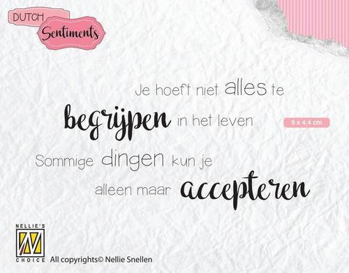 Nellies Choice Clearstempel Sentiments - Je hoeft niet alles (NL) SENC012 90x44mm (12-18)