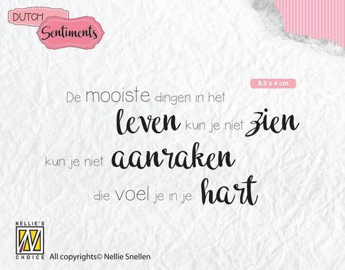 Nellies Choice Clearstempel Sentiments - De mooiste dingen (NL) SENC013 85x40mm (12-18)