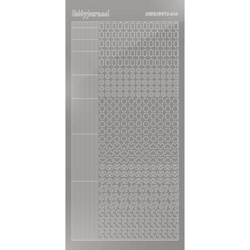 Hobbydots sticker - Mirror - Silver