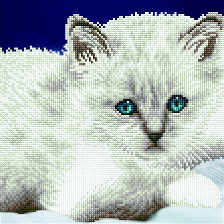 Diamond kits white Cat