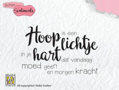 Nellies Choice Clearstempel Sentiments - Hoop is een lichtje (NL) SENC009 (07-18)
