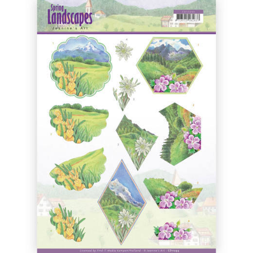 3D knipvel - Jeanine's Art - Spring Landscapes - Mountains
