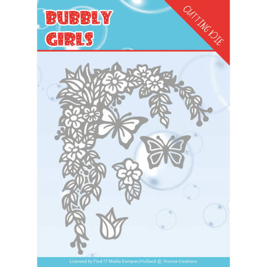 Dies - Yvonne Creations - Bubbly girls- Flower Corner