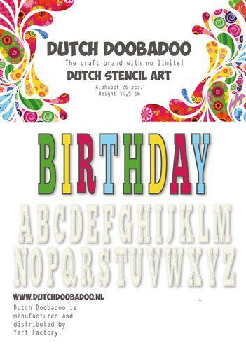 Dutch Doobadoo Dutch Stencil Art alfabet 5 (450 mm) 470.990.113 (05-19)