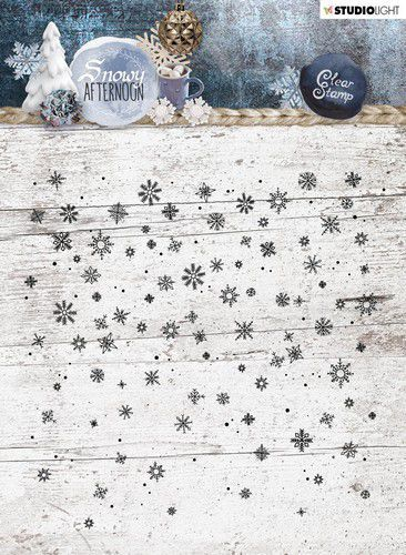 Studio Light stempel 14x14 Background Snowy Afternoon nr 401 STAMPSA401 (08-19)
