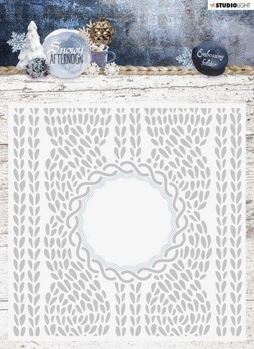 Studio Light Embossing Folder With Die Cut, Snowy Afternoon nr.01 EMBSA01 (08-19)