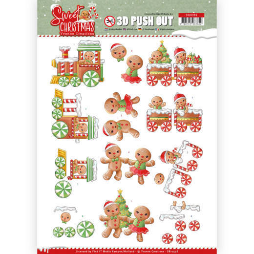 3D Pushout - Yvonne Creations - Sweet Christmas - Sweet Cookies