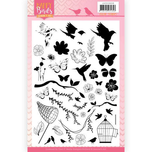 Clear Stamps - Jeanine's Art - Happy Birds