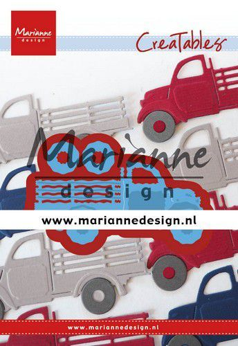 Marianne D Creatable Pick-up truck LR0641 81.5x38 mm (01-20)