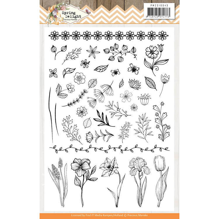 PMCS10043 Clear Stamps - Precious Marieke - Spring Delight (HJ180)